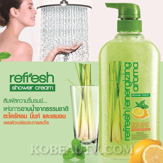 ครีมอาบน้ำ มิสทิน/มิสทีน รีเฟรช เอนเนอร์ไจซิ่ง อโรม่า / Mistine Refresh Shower Cream
