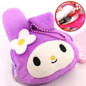 Sanrio My Melody Coin Case (Purple) พวงกุญแจสุดน่ารักที่เป็นกระเป๋าเก็บเหรียญในตัวค่ะ