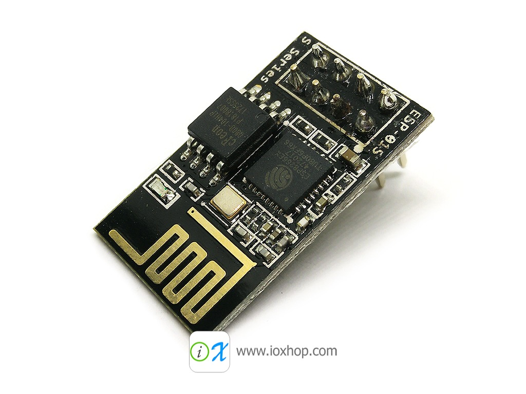 ESP8266 ESP-01S รุ่นใหม่ PCB สีดำ Flash 1MB