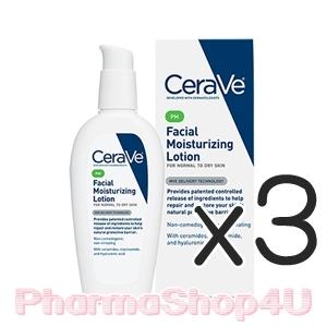 (ซื้อ3 ราคาพิเศษ) CeraVe PM Facial Moisturizing Lotion 89mL โลชั่นบำรุงผิวหน้า เสริมสร้างเซลาไมด์ เพื่อผิวแข็งแรง ไอเทมสุดฮิตที่ทุกคนกำลังตามหา