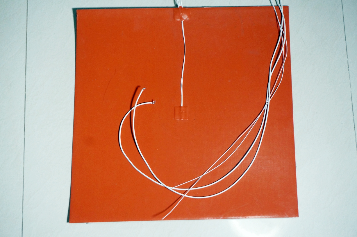 Silicone heating plaate 40x40cm 500W 220VAC