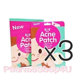 (ซื้อ3 ราคาพิเศษ) แผ่นซับสิว SOS Plus Acne Patch (18ชิ้น) แผ่นแปะสิว ซับของเหลวจากสิว ป้องกันแบคทีเรียและสิ่งสกปรก ติดแน่น ทนนาน เนื้อบาง แต่งหน้าทับได้เนียนๆ