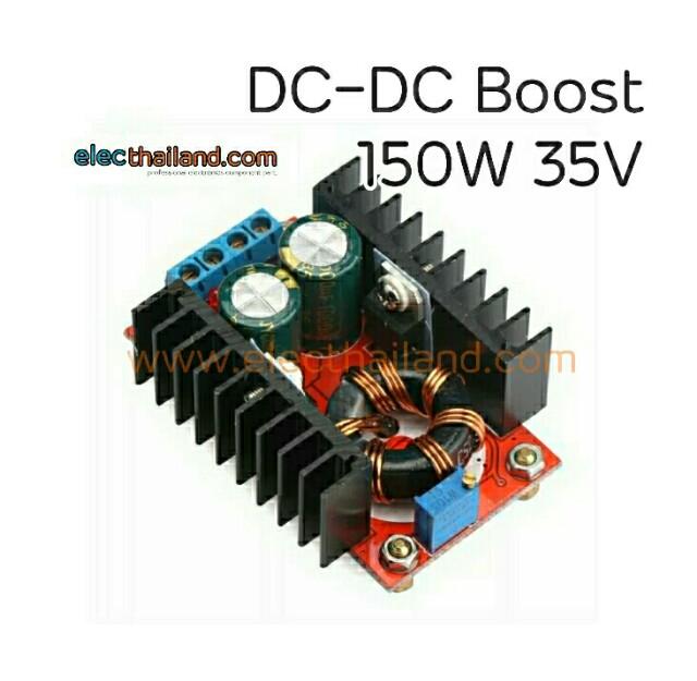 DC-DC Boost 35V 150W adjustable