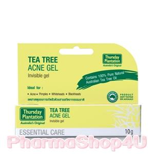 Thursday Plantation Tea Tree Acne Gel 10g เทริสเดย์ แพลนเทชั่น ที ทรี แอคเน่ เจล 10 กรัม เจลใสแต้มสิว ด้วยสารสกัดจากธรรมชาติ 100%