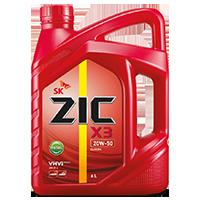 Zic X3 20W50 เบนซิน7,000กิโล ขนาด 4+1 ลิตร
