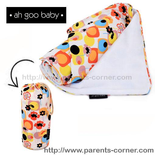 ผ้าห่มพกพา The Stroller Blanket Ah Goo Baby - Poppy