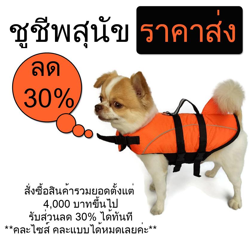 เสื้อชูชีพสุนัขลด 30%