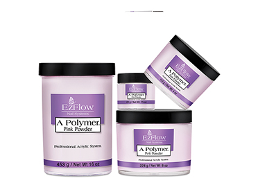 ผงต่อเล็บอะคริลิค Ezflow สีชมพูใส A Polymer Powders Pink