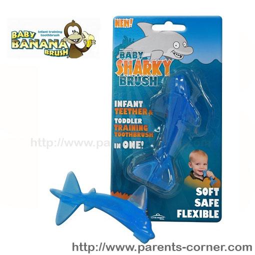 แปรงนวดเหงือกและฟันน้อง Baby Banana - ฉลาม