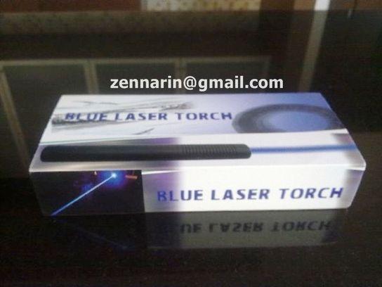 เลเซอร์ฟ้า ไกล 4 km พลาสติกทะลุ ผิวไหม้ (Blue laser)