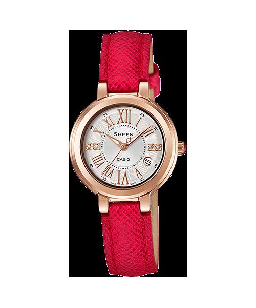 นาฬิกา คาสิโอ Casio SHEEN RED COLOR SERIES รุ่น SHE-4029PGL-7A ของแท้ รับประกัน1ปี