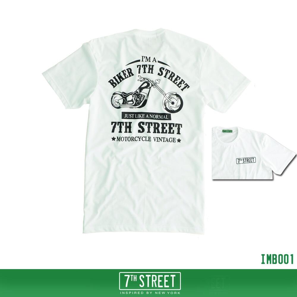 เสื้อยืด 7TH STREET - รุ่น I'm a Biker   White