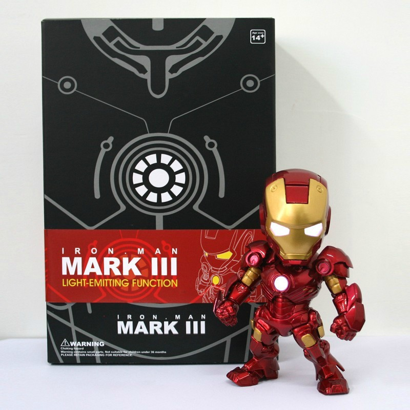 IRON MAN MARK III LIGHT-EMITTING FUNCTION FIGURINE NEW
