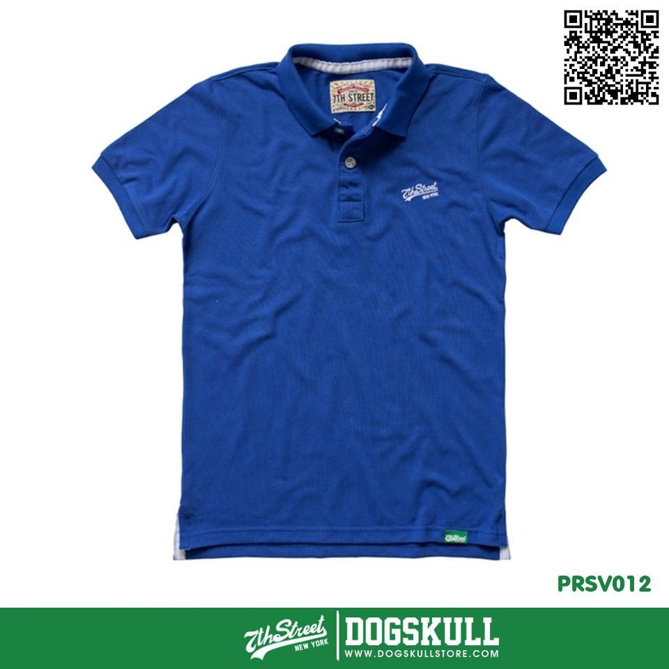 เสื้อโปโล - XL POLO Shirt รุ่น 7th Street | Blue
