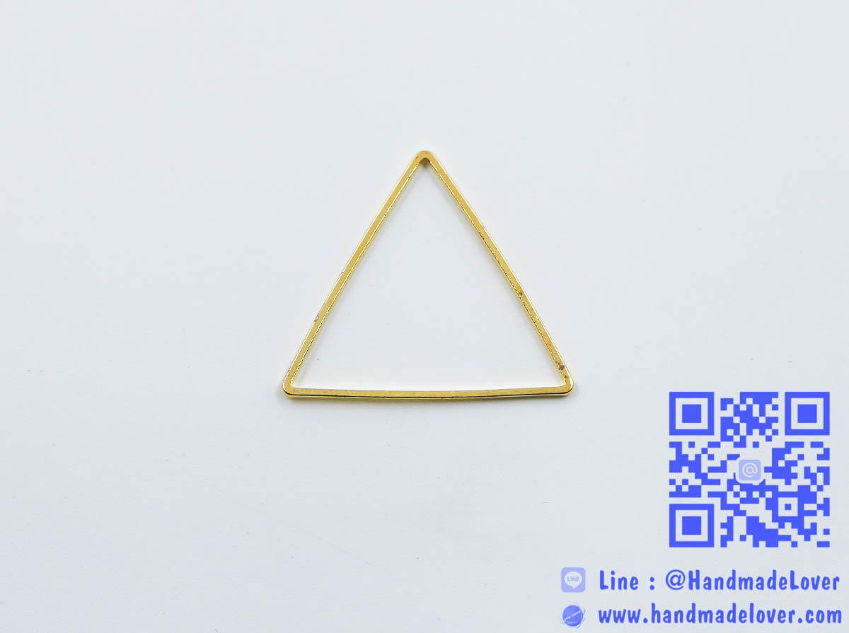 จี้โลหะ สไตล์มินิมอล ( minimal style ) รูปสามเหลี่ยม [ใหญ่] สีทอง