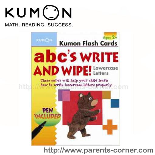 Flash cards เขียนลบได้ KUMON abc