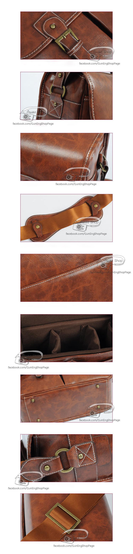 กระเป๋ากล้องหนัง Smart Marble Leather Bag (M)