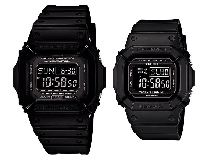 นาฬิกา คาสิโอ Casio G-Shock SETคู่รัก รุ่น DW-D5600P-1&BGD-501-1 Pair Set (หายากมาก)