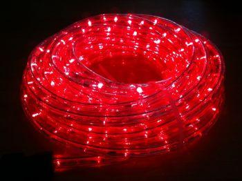 ไฟท่อ LED 2 สาย กลม สีแดง เกรด A