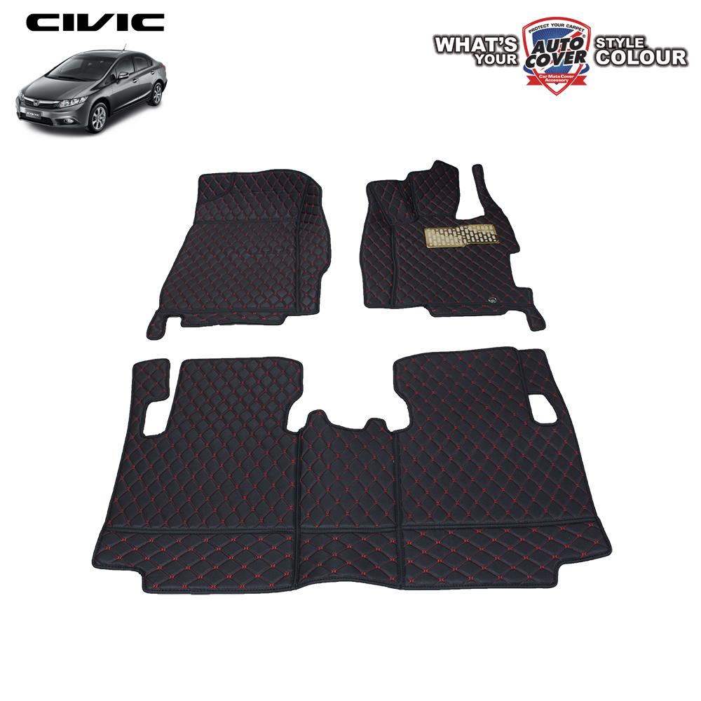 พรมรถยนต์เข้ารูป 6 D รถ HONDA CIVIC FB 2013-2016 จำนวน 3 ชิ้น