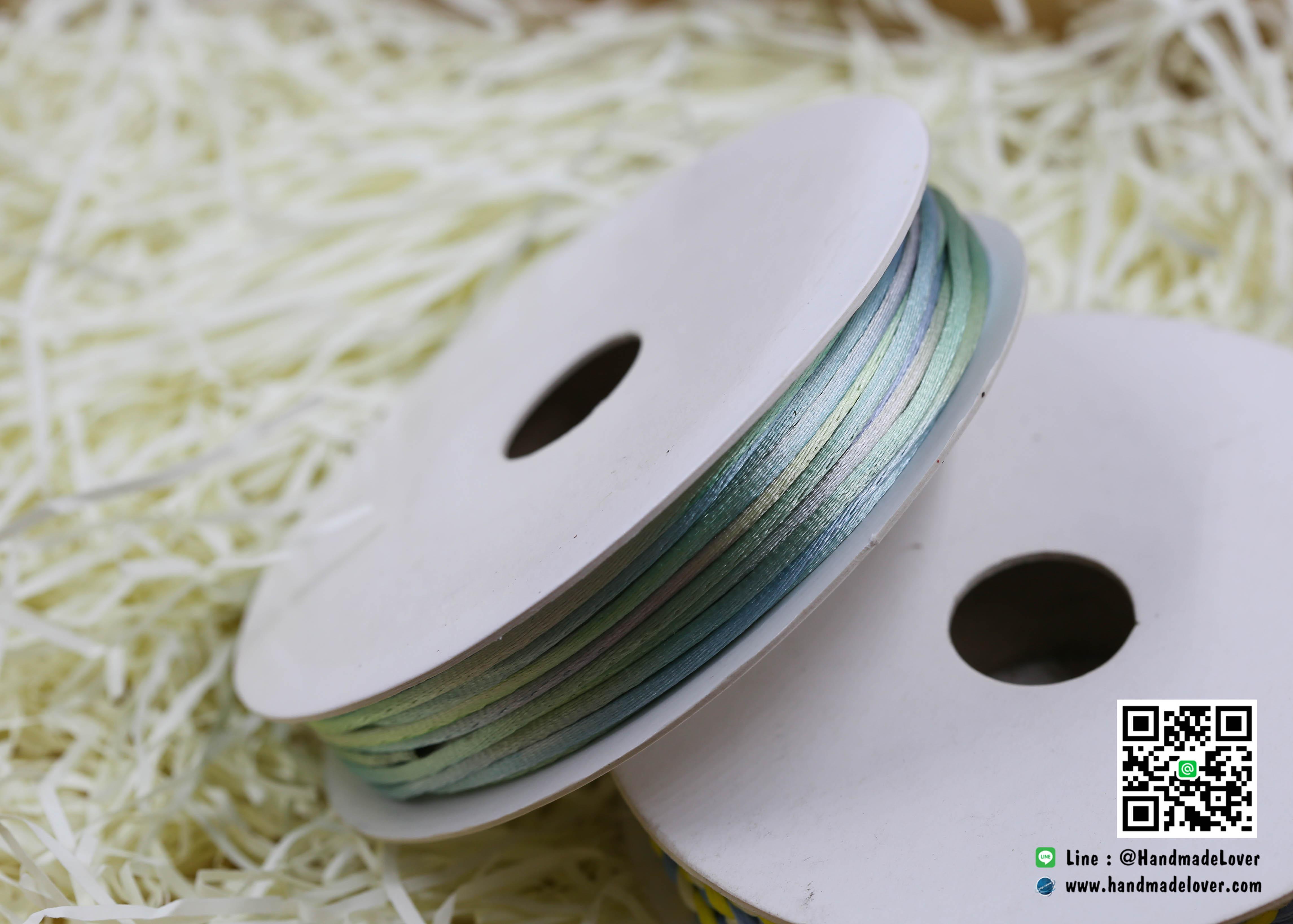เชือกหางหนู สีรุ้ง [N16] ขนาด 2 มิล [อย่างดี เนื้อนุ่ม]
