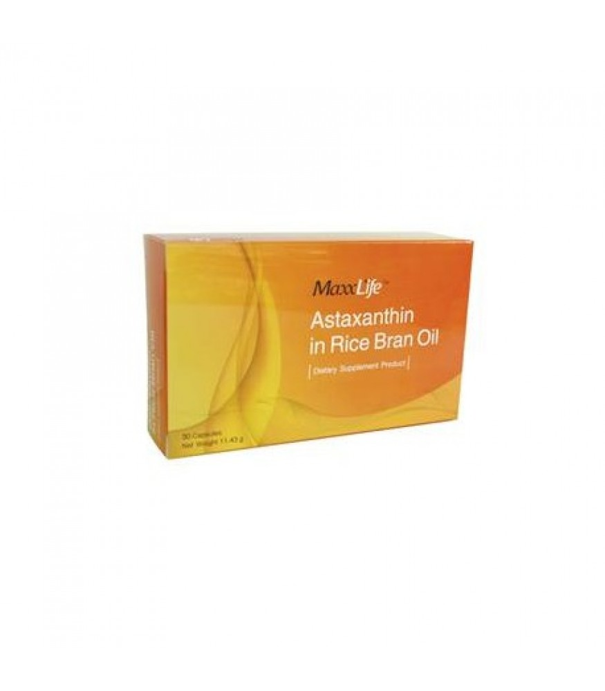 WellGate MaxxLife Astaxanthin in Rice Bran Oil 30s