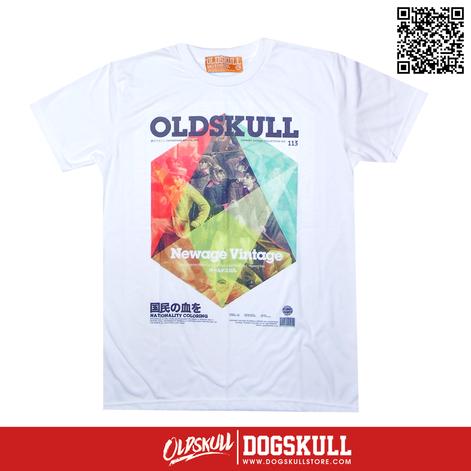 เสื้อยืด OLDSKULL : EXPRESS 113 NATIONALITY COLORING | WHITE XL