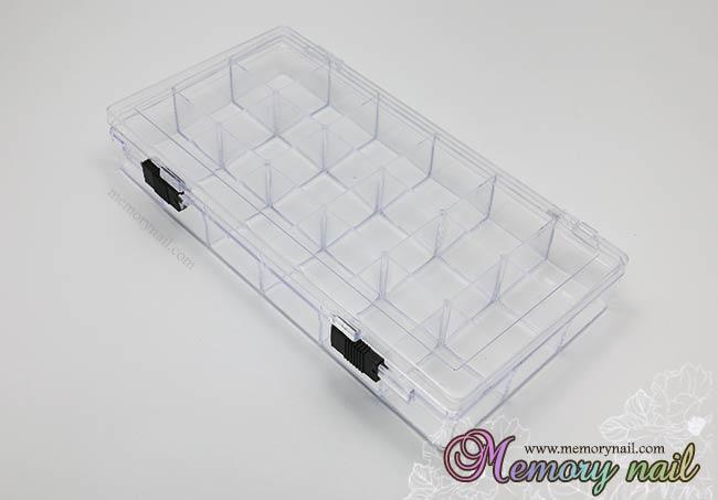 กล่องใส่อุปกรณ์ 18 ช่อง ล๊อกสีดำ