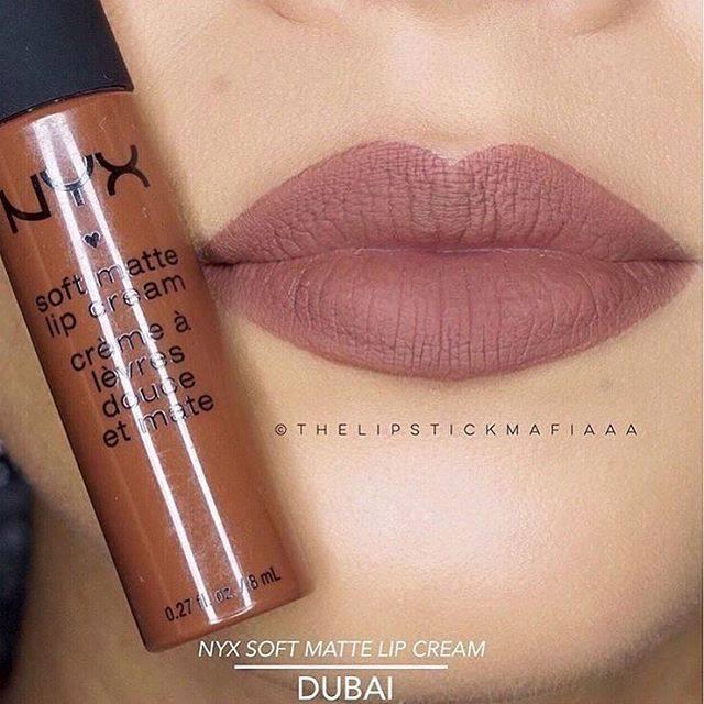 NYX Soft Matte Lip Cream 6.5g # SMLC 34 Dubai ลิปครีม เนื้อแมท นุ่ม สีติดทนนาน ไม่แห้งด้าน