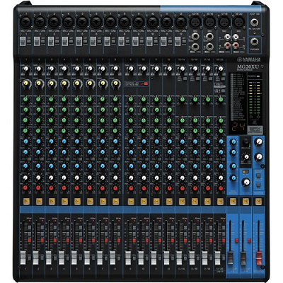 YAMAHA MG20XU - 20-INPUT MIXER WITH BUILT-IN FX AND 2-IN/2-OUT USB INTERFACE
