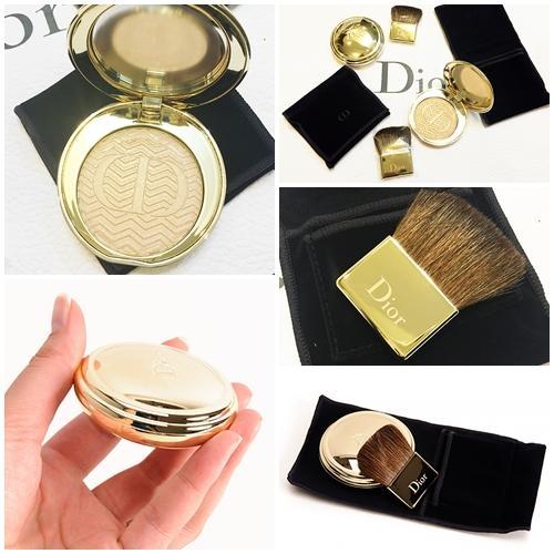 Dior State of Gold Illuminating Pressed Powder # 001 Luxurious Beige สีเบจทอง (ขนาดปกติ Inbox เคาน์เตอร์ไทย)