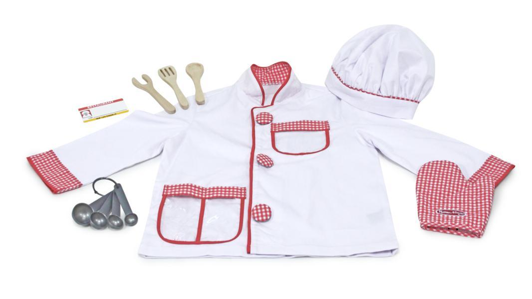 ชุดพ่อครัวน้อย Melissa and doug Chef Role Play Costume Set
