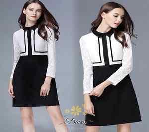 เสื้อผ้าแขนยาว แฟชั่นลูกไม้เกาหลีสีขาว
