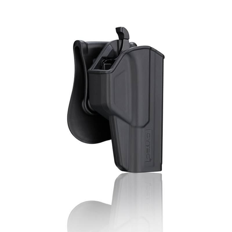 ซองปืน รุ่นT-Thumbsmart Holster จากค่าย Crytac ของปืน Glock 17 ใส่ได้ทั้งปืน Glock 17,22,31(Gen1-4) ใน1ชุด มาพร้อมซองปืนที่สามารถปลดไวออกจากเพลตได้ และ ซองแม็คกระซีนเดี่ยว1ชุด