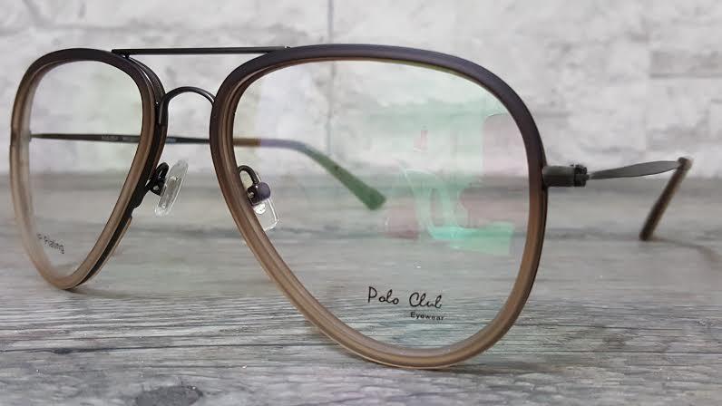 POLO club pc 3211 กรอบแว่นตาพร้อมเลนส์ มัลติโค๊ตHOYA ป้องกันรังสีคอม