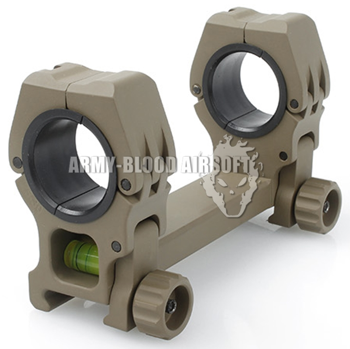 New.American Rifle M10 QD-L Dual Scope Mount With Spirit Level (30mm/25mm,สีดำ สีทราย)