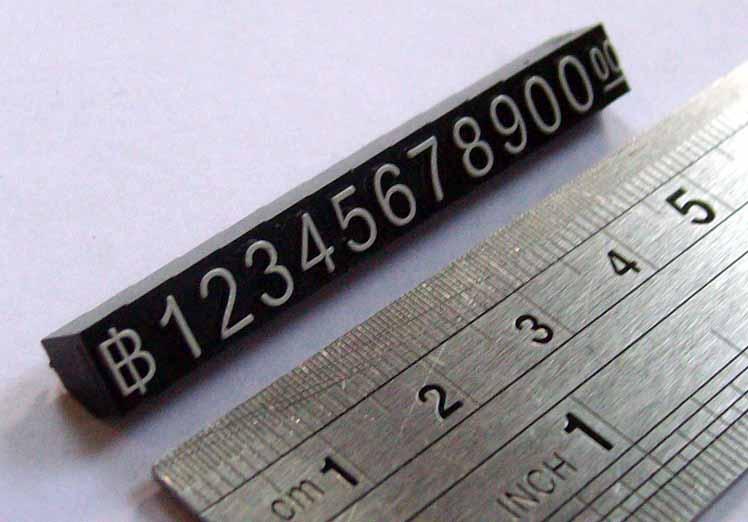 ตัวเลขแสดงราคา แบบลอยตัว ขนาด M บรรจุ 10 แถว/ชุด