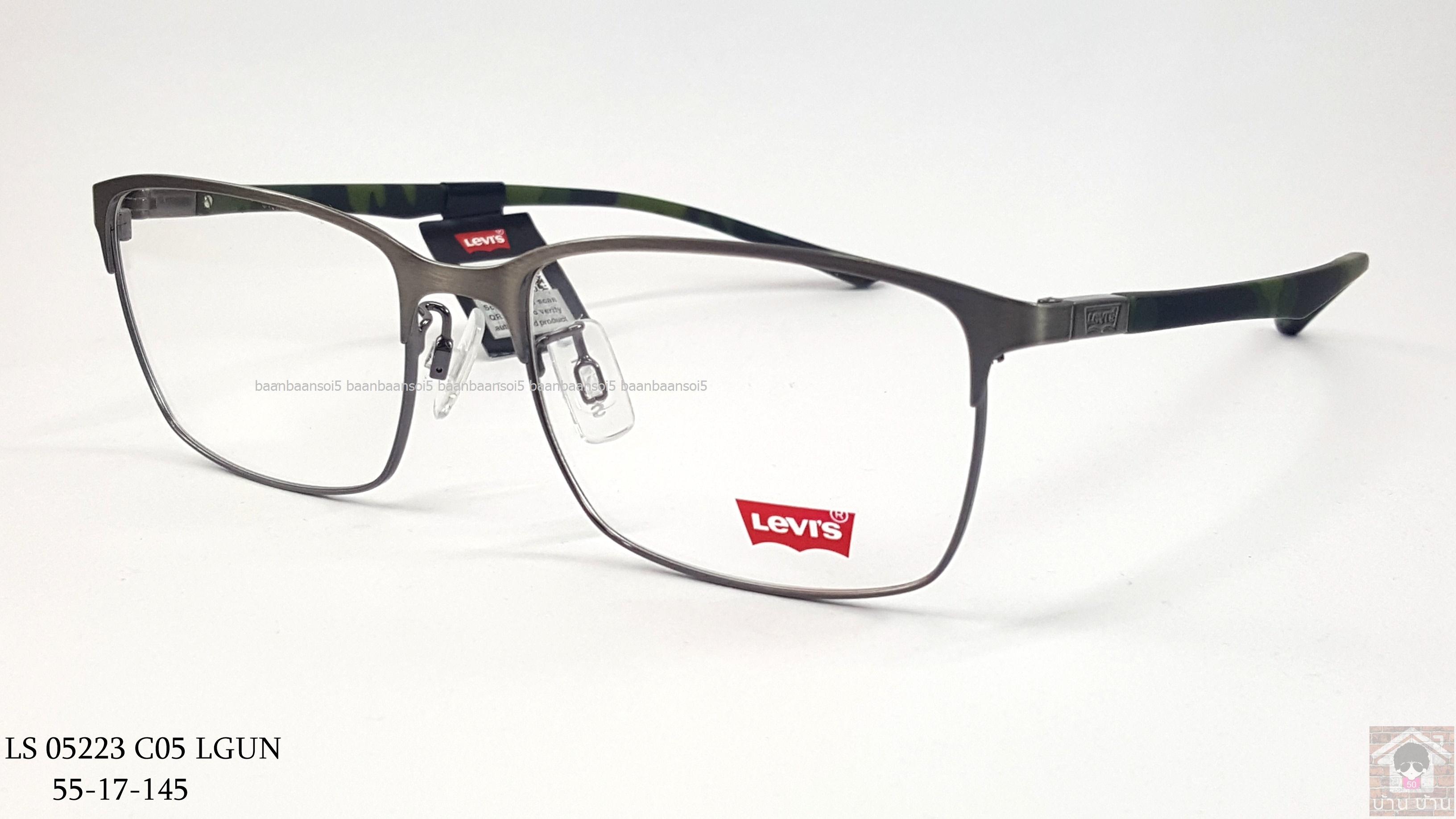 Levi's LS 05223 c05 โปรโมชั่น กรอบแว่นตาพร้อมเลนส์ HOYA ราคา 3,900 บาท