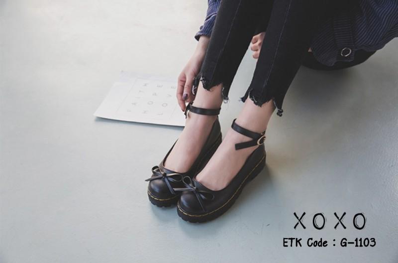 รองเท้าคัทชูสีดำ ทรง Dr. Matens (สีดำ )