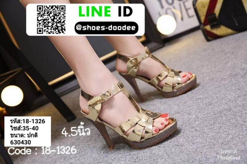 รองเท้าส้นสูงสไตล์YSL 18-1326-GLD [สีทอง]