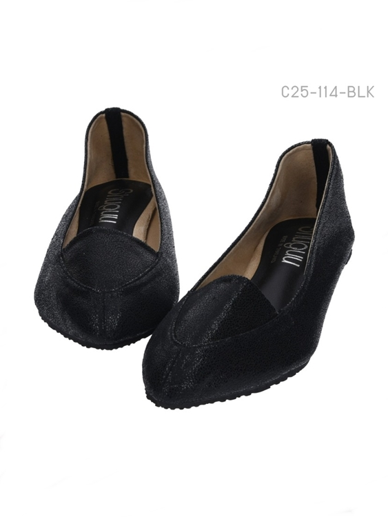 รองเท้าคัทชู แฟรตหัวแหลม (สีดำ)
