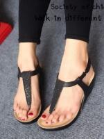รองเท้าลำลองรัดส้น แบบคีบ (สีดำ )