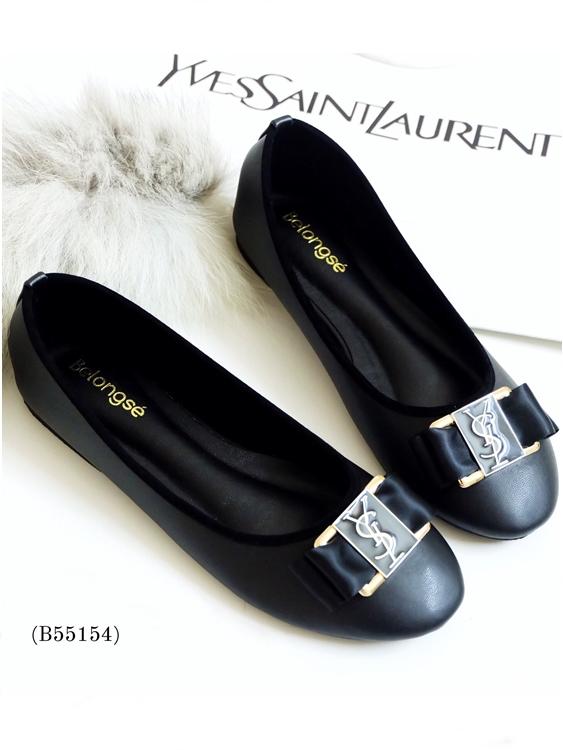 รองเท้าคัทชู STYLE YSL (สีดำ)