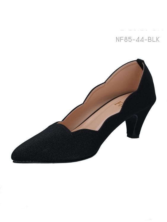 รองเท้าส้นสูง สไตส์เรียบหรู (สีดำ)