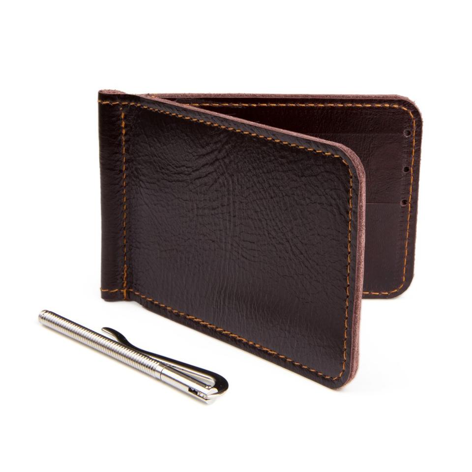 กระเป๋าหนีบแบงค์ รุ่น Money Clip สีน้ำตาล