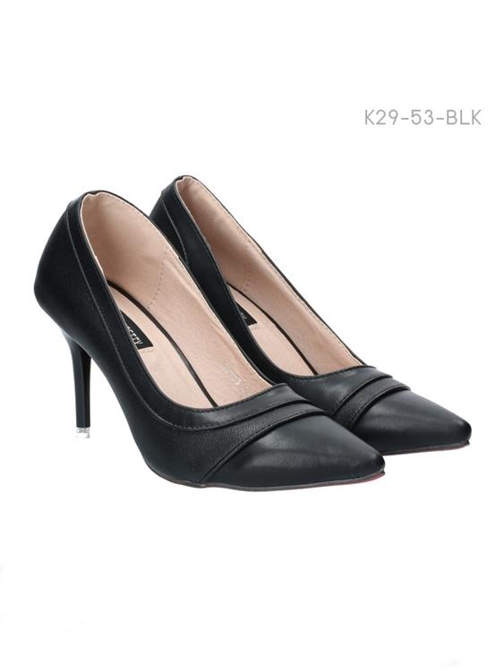 รองเท้าส้นสูง หัวแหลม (สีดำ)