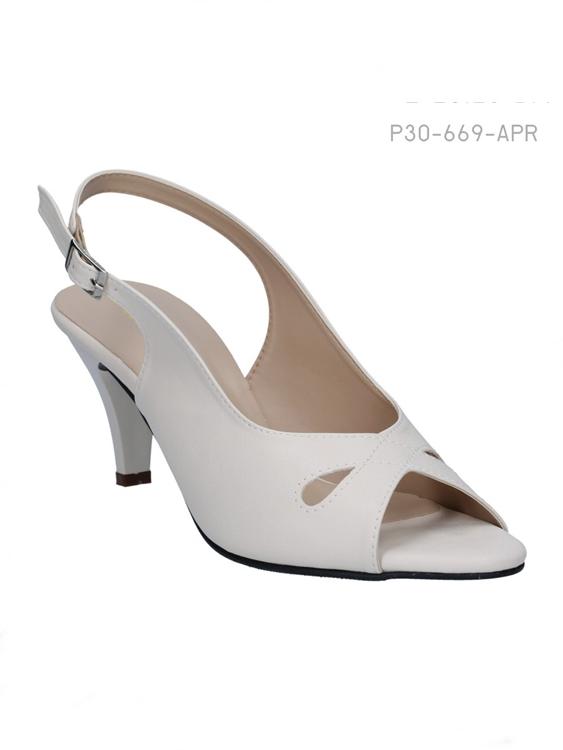 รองเท้าส้นสูง หัวแหลม (สีแอปริคอล)