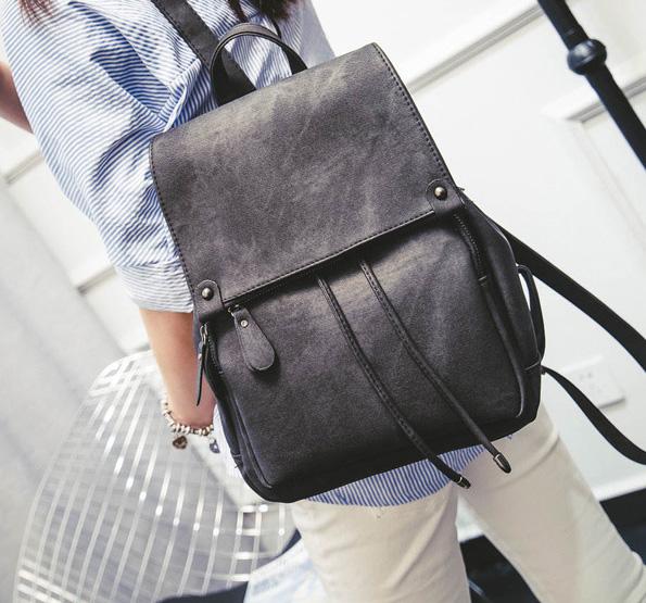 พร้อมส่ง กระเป๋าเป้สะพายหลัง เป้เดินทาง เป้นักเรียนผู้หญิงแฟชั่นเกาหลี TIANCAI รหัส B-103 สีดำ