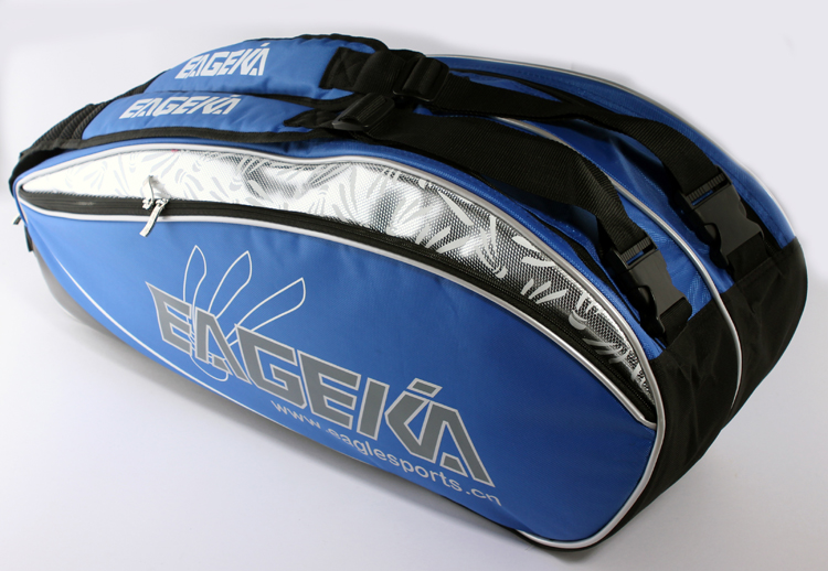กระเป๋า Eageka ใบกลางสีน้ำเงินลายลูกแบด