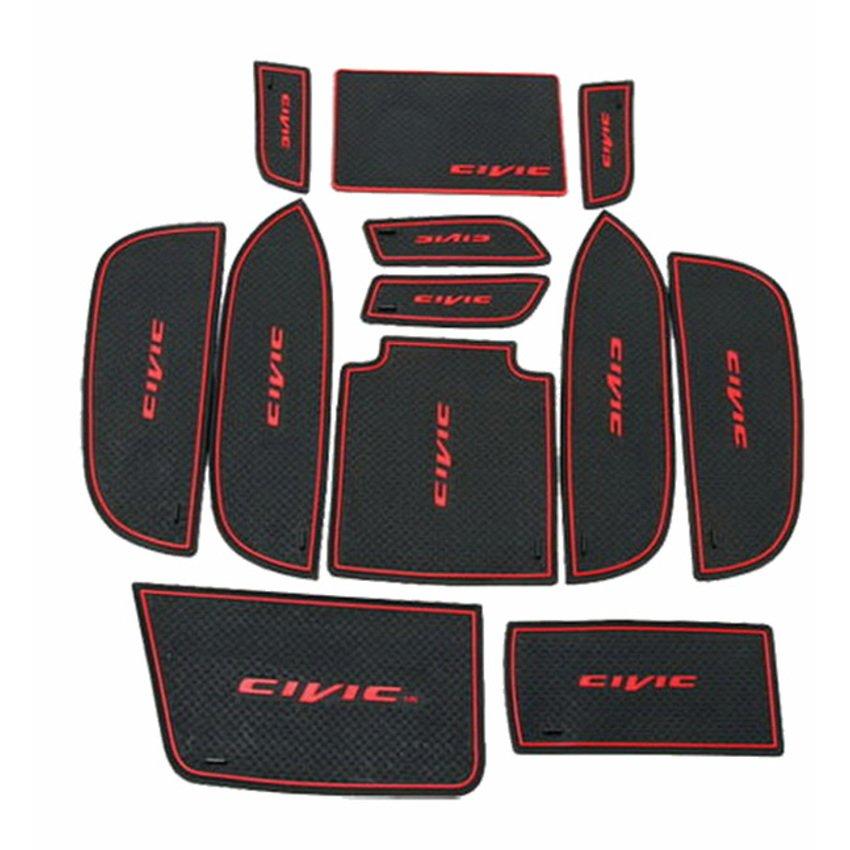 WASABI ซิลิโคนปูพื้นผิวคอนโซล รุ่น Civic 1.8 '11 (สีดำ)
